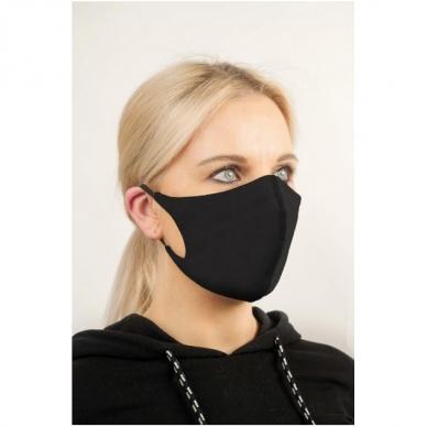 Daugkartinė veido kaukė su SilverPlus apdaila (sp. juoda)